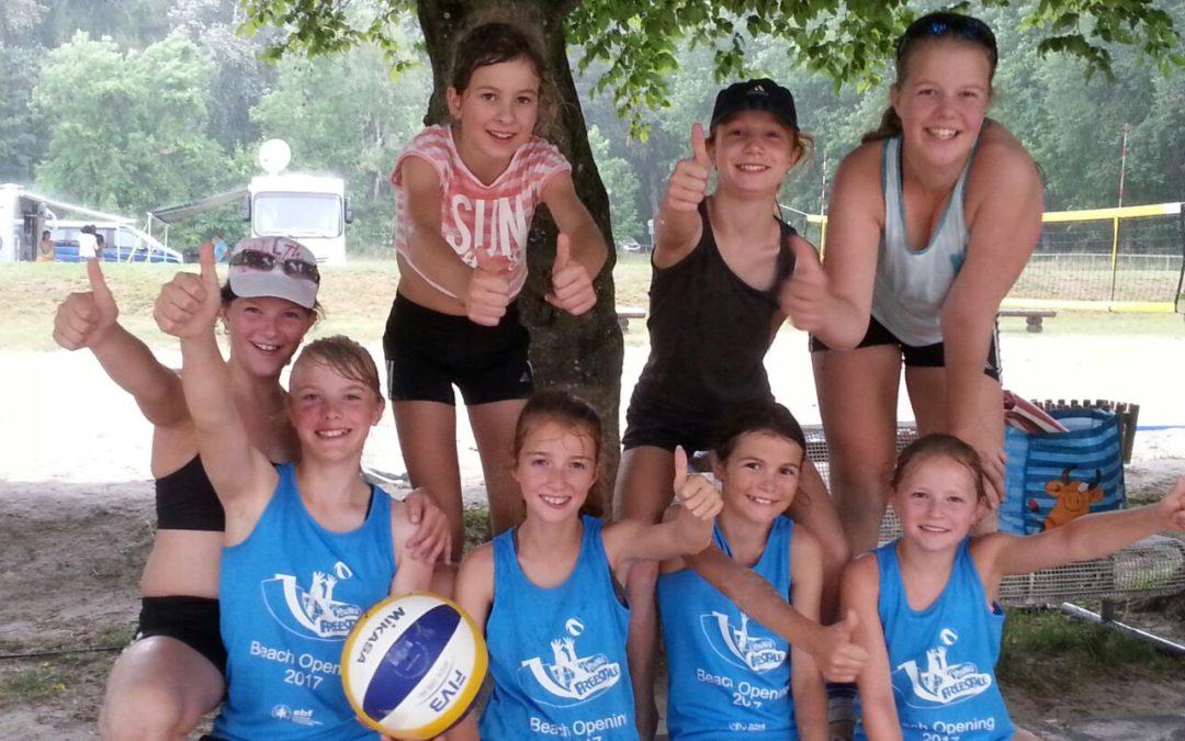 2.+3.Platz für U13-Mädels bei Bayerischer Beachvolleyballvereinsmeisterschaft
