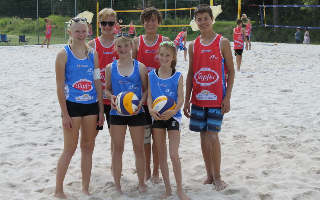 Lediglich einige Satzgewinne für Altdorfer U15-Beachvolleyballer bei der Bayerischen