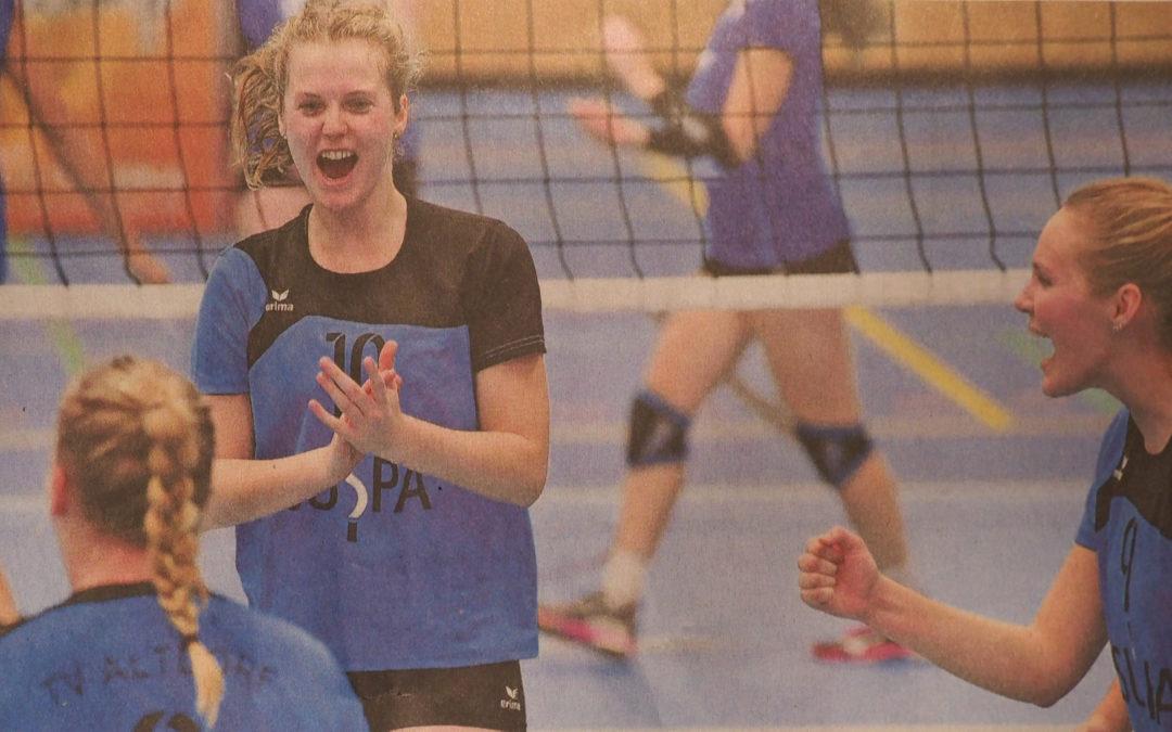 Drittliga-Volleyballdamen-Damen beim überraschend guten Aufsteiger TV Dingolfing
