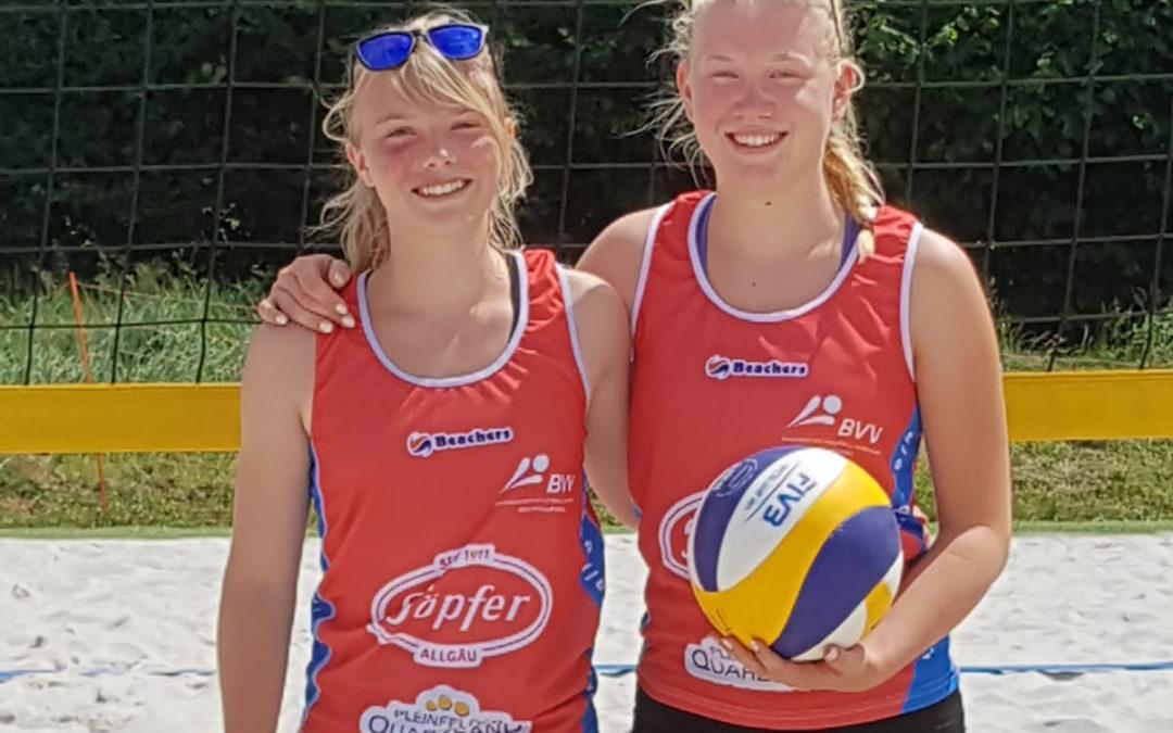 Altdorfer Team bei der Bayerischen Beachvolleyball-Meisterschaft U15 in Lenggries