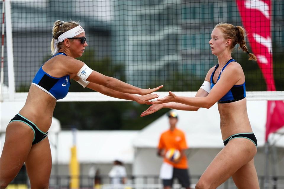 Vicky Seeber wieder im Pech bei der World Tour im Beachvolleyball
