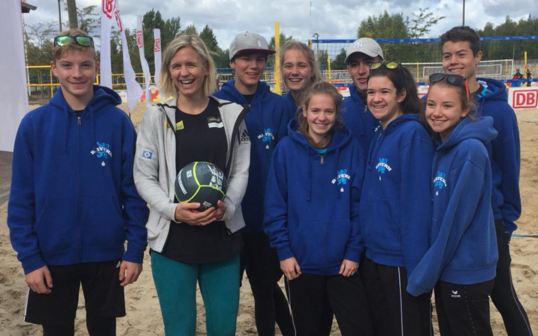Beach-Volleyballer des Leibniz Gymnasium beim Bundesfinale in Berlin