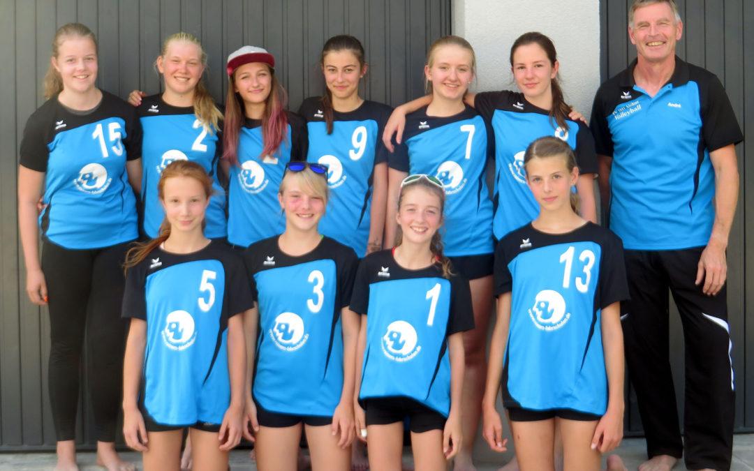 U16-Volleyballerinnen klettern mit zwei Siegen auf Platz 2 in der Bezirksliga