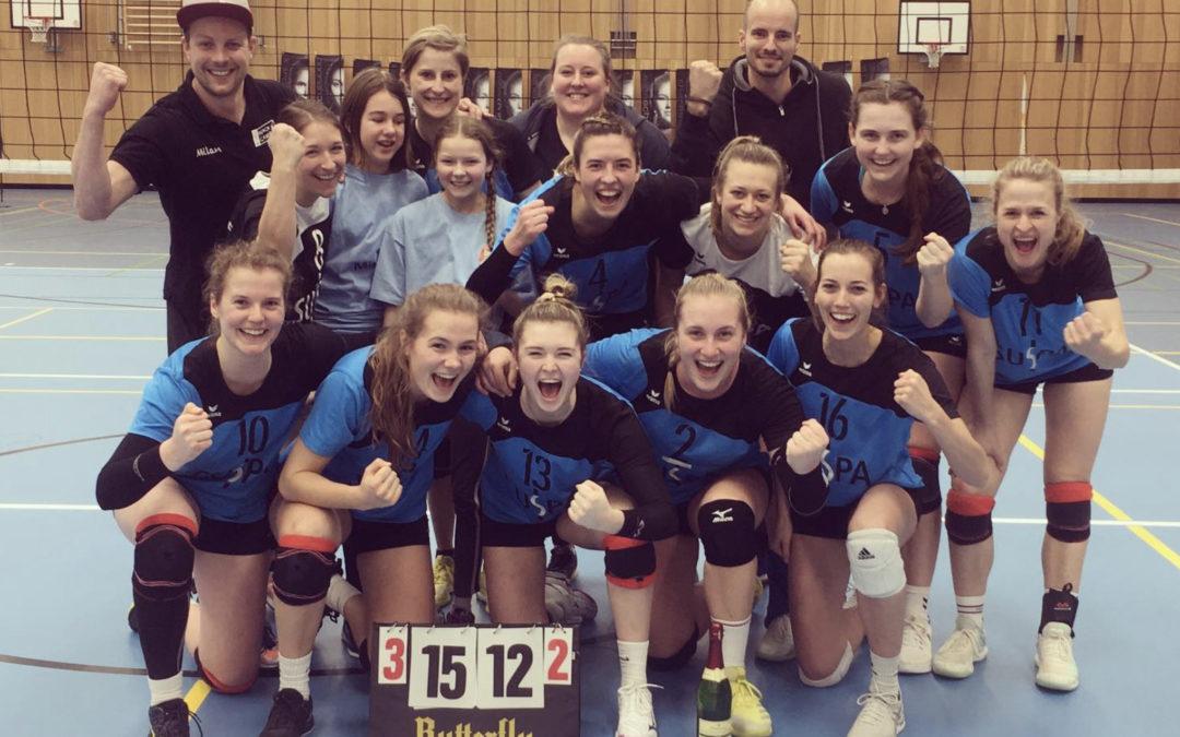 TV-Volleyballdamen gelang mit Mühe der neunte Sieg in Folge