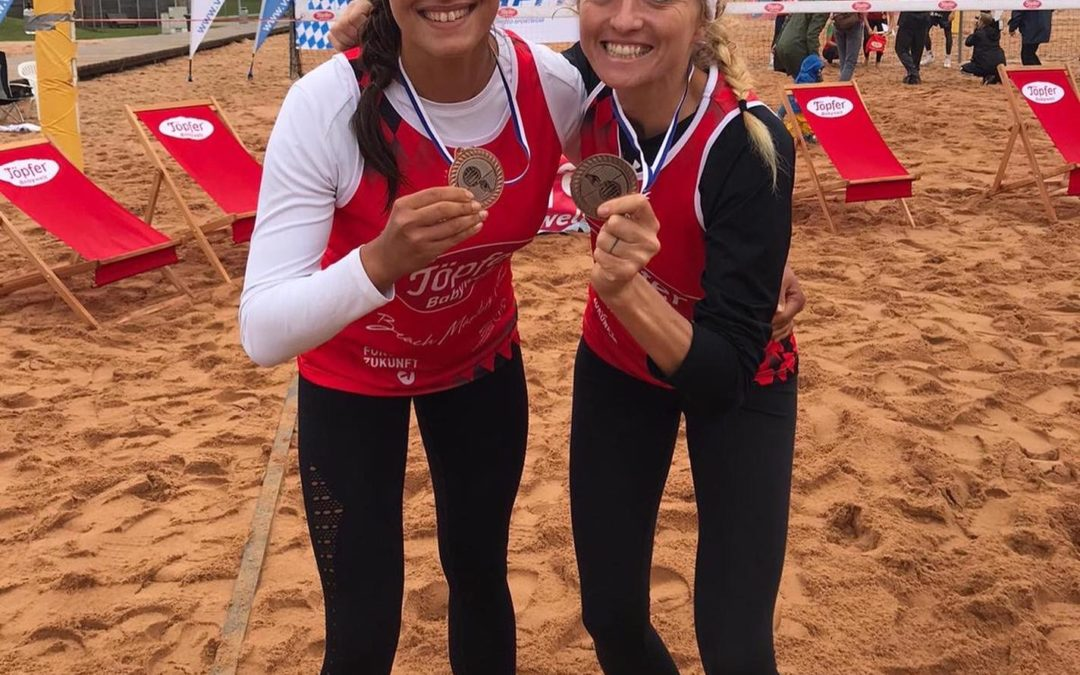Bronze bei Bayerischer Meisterschaft im Beachvolleyball