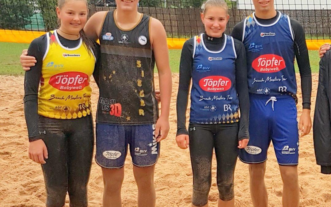 Beim Beachvolleyball-Basic in Erlangen-Bruck siegte die Jugend